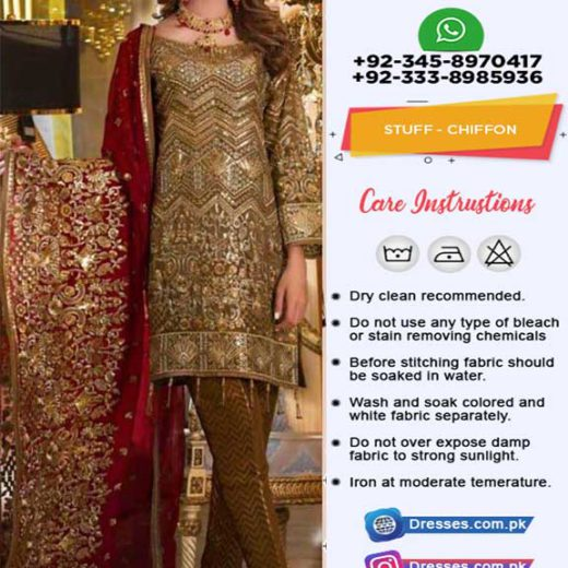Maryam And Maria Chiffon Suit 2019