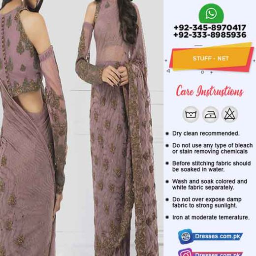 Asim Jofa Luxury Net Saree 2019