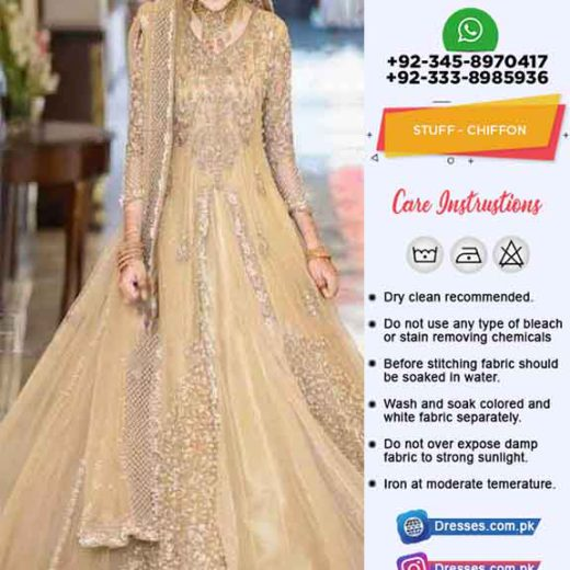 Pakistani Bridal Frock Suit 2019