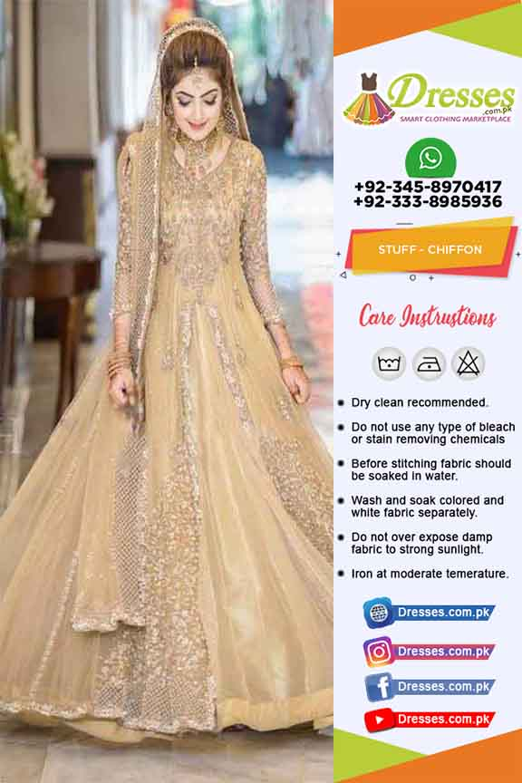 2c6c53b388 Pakistani Bridal Frock Suit 2019 | Pakistani Dresses Marketplace