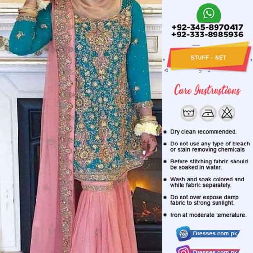 fatima shehzad Net Wedding Suit
