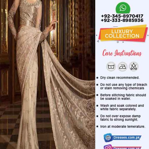 Maria B Luxury Latest Saree 2019
