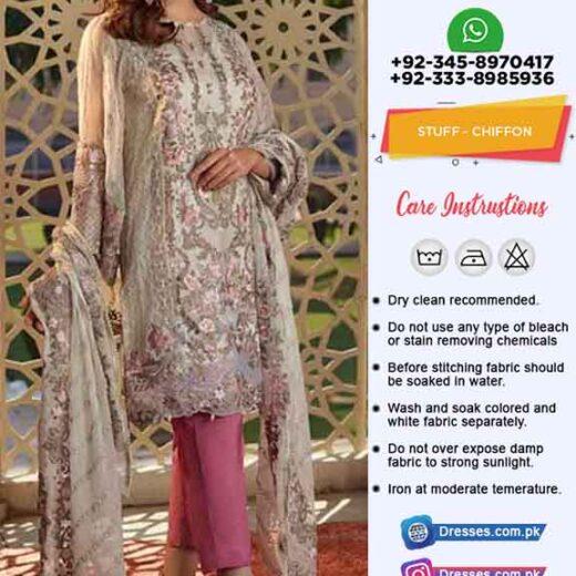 Pakistani Latest Chiffon Dress 2019