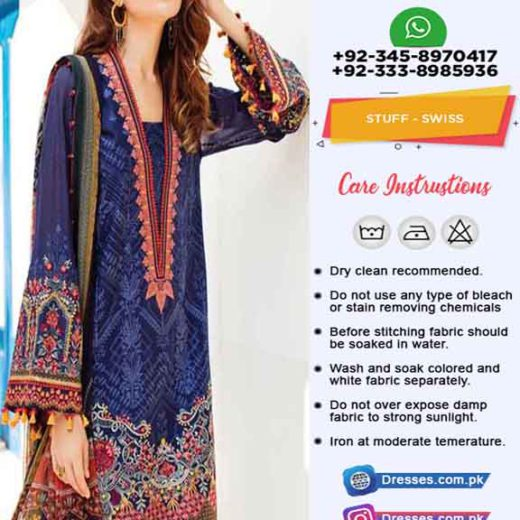 Baroque swiss Lawn Eid collection