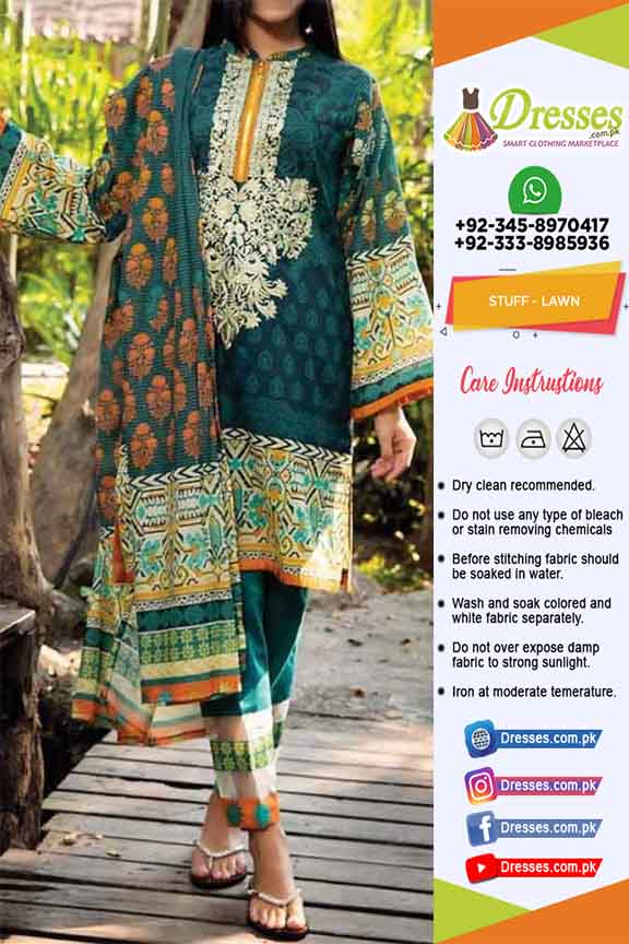 Pakistani Latest Eid Lawn Dresses