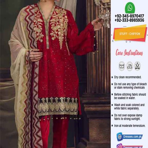 Maryam Maria Chiffon Collection 2019