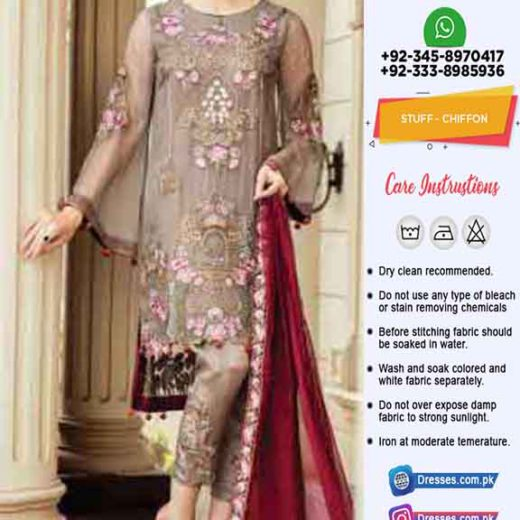 Afrozeh eid chiffon collection 2019