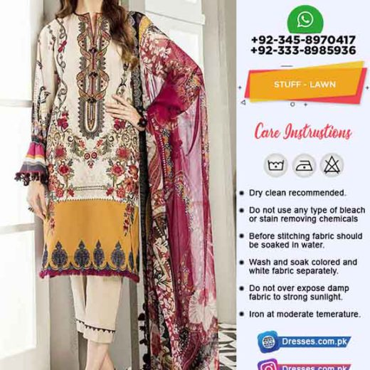 Baroque Latest Lawn Collection 2019