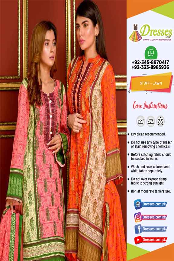 Khaadi Latest Lawn Dresses 2019