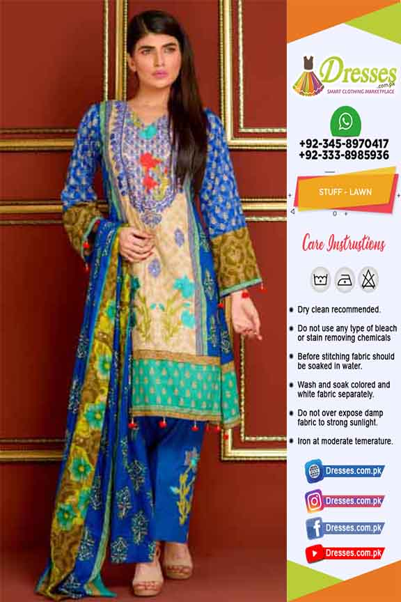 Khaadi Latest Lawn suit 2019