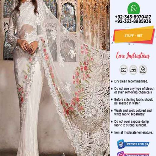 Maria B Bridal Saree collection 2019