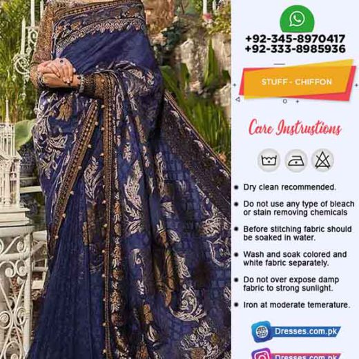 Maria B Chiffon saree Collection 2019