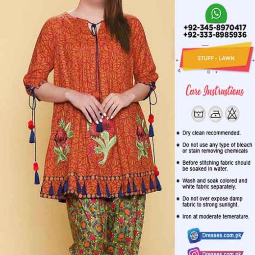 Pakistani 2 Piece Summer Dresses
