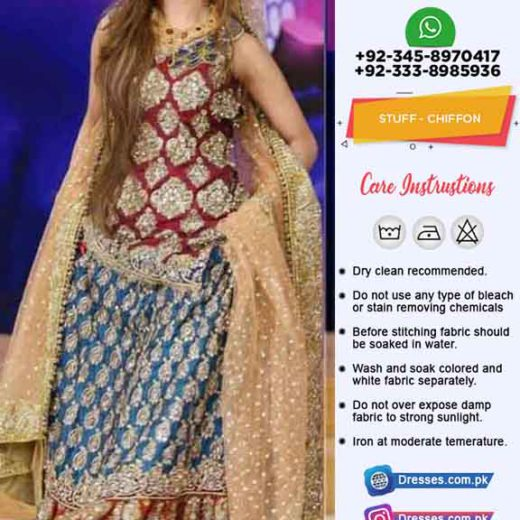 Pakistani Eid Bridal Sharara Online