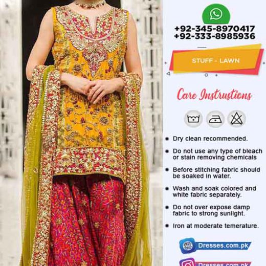 Pakistani Mehndi Summer Dresses