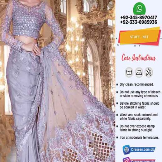 Maria B Mbroidered Saree 2019