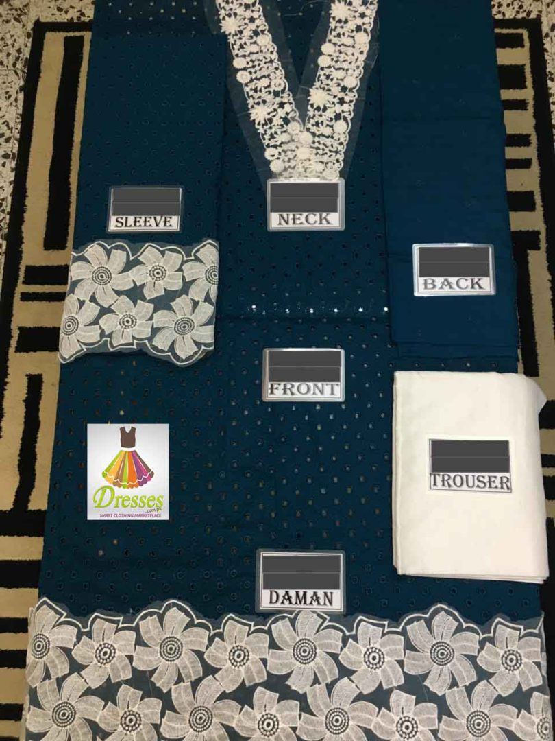 Fabric: Linen 3 pcs Front full heavy Embroidered Shifley work Neck Embroidered Patch Back heavy Embroidered Sleeves heavy Embroidered Shifley work Sleeves patch Embroidered work Daman heavy Embroidered Patch Plain Trouser Crinkle Chiffon dupatta with attached tussles Pkr Price: 4,499 For Booking Inbox us or Call: +92-333-8985936 Whats App/IMO: +92-345-8970417 , +92-333-8985936 More details:https://dresses.com.pk International Shipping Charges apply