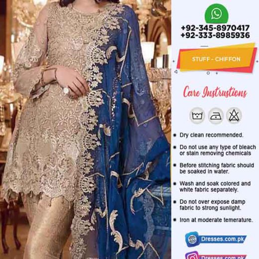 Buy Pakistani Chiffon Dresses 2019