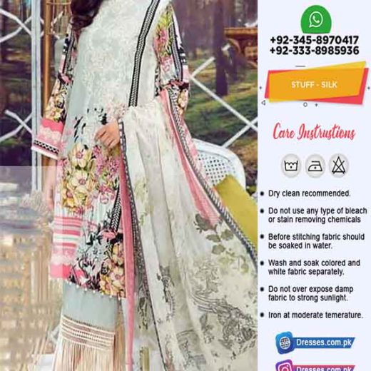 Firdous Digital Printed Silk Dresses
