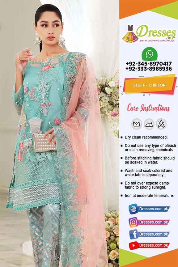 Pakistani Latest Chiffon Dresses 2019