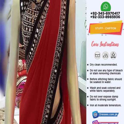 Pakistani Latest Chiffon Saree 2020