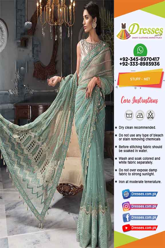Pakistani Latest Chiffon Saree