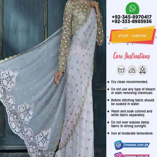 Pakistani Latest Wedding Saree 2020