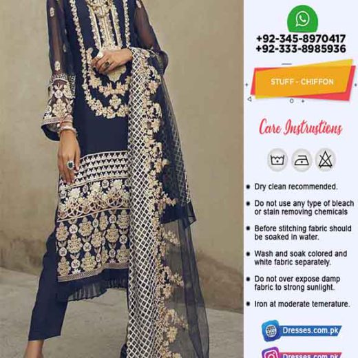 saida Asad Latest Chiffon Dresses