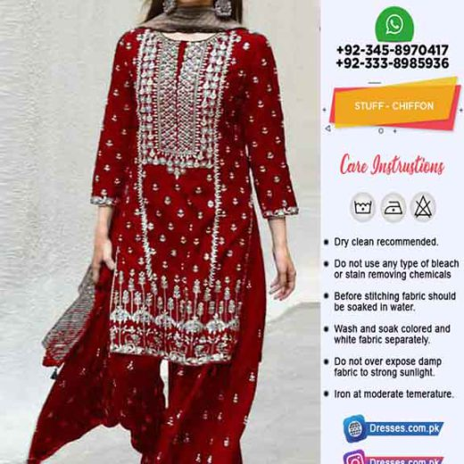 Pakistani Latest Chiffon Dresses 2020