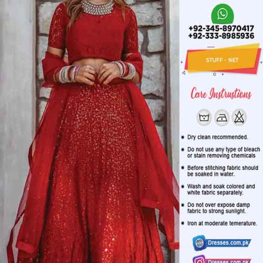 Indian Bridal Net Lehenga 2020