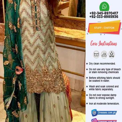 Kashees Latest Chiffon Lehenga Dresses