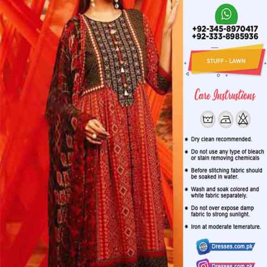 Pakistani Printed Lawn Dresses
